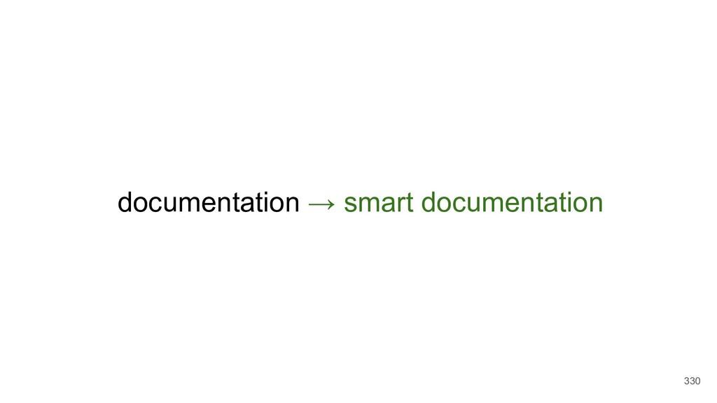 documentation → smart documentation 330