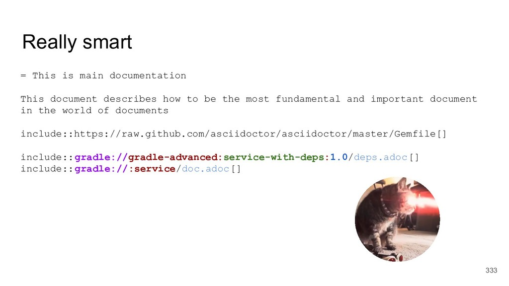 Really smart = This is main documentation This ...