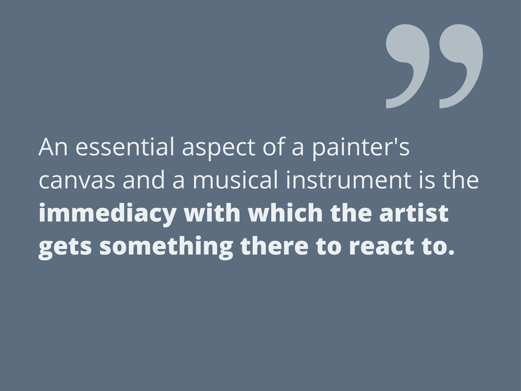 An essential aspect of a painter's canvas and a...