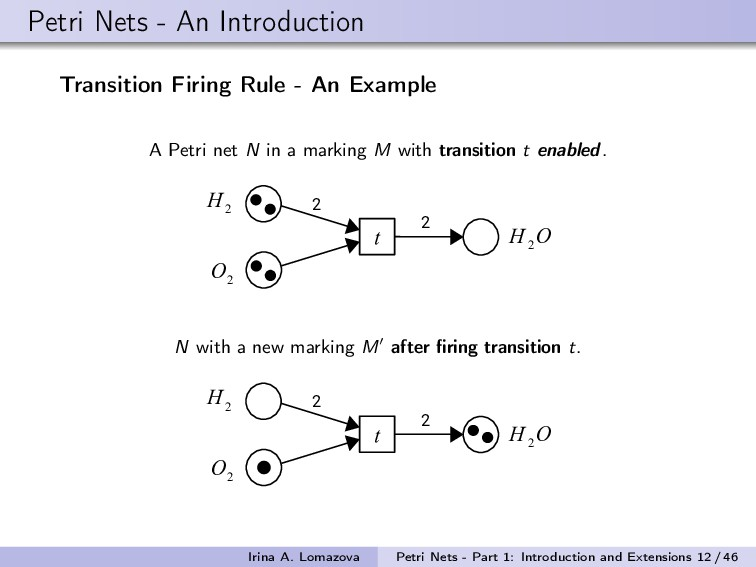 Petri Nets - An Introduction Transition Firing ...