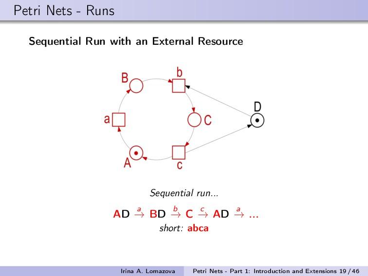 Petri Nets - Runs Sequential Run with an Extern...