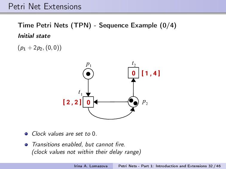 Petri Net Extensions Time Petri Nets (TPN) - Se...