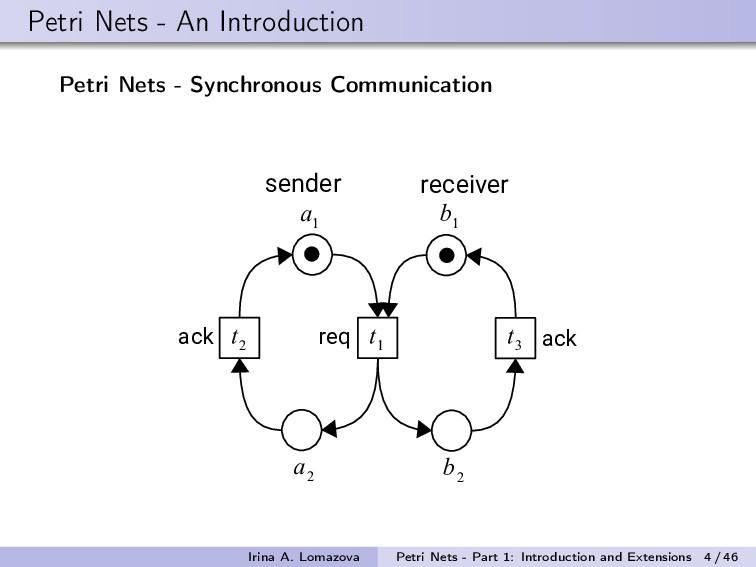 Petri Nets - An Introduction Petri Nets - Synch...