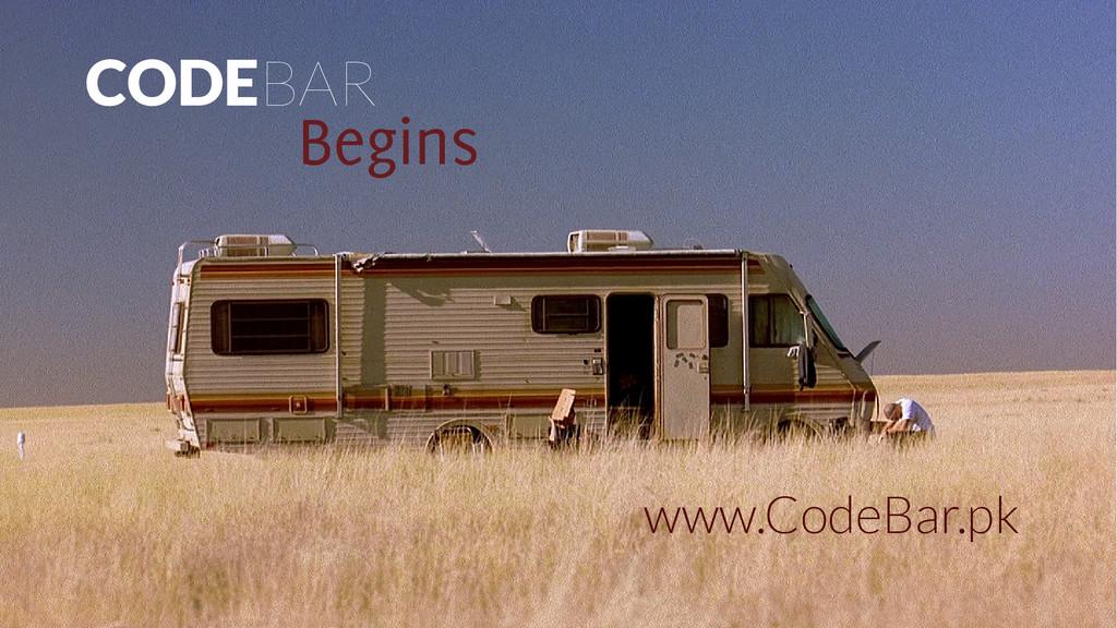 CODEBAR Begins www.CodeBar.pk