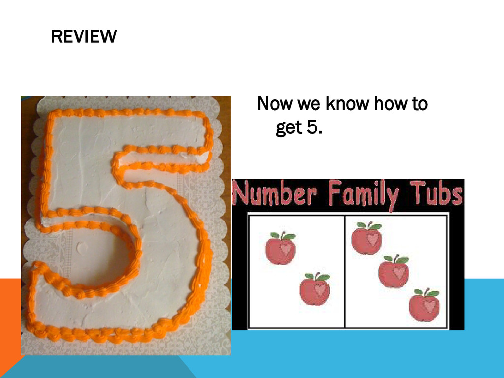 Now we know how to get 5. REVIEW