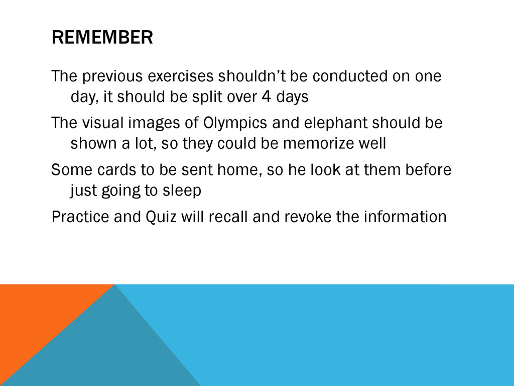 REMEMBER The previous exercises shouldn't be co...