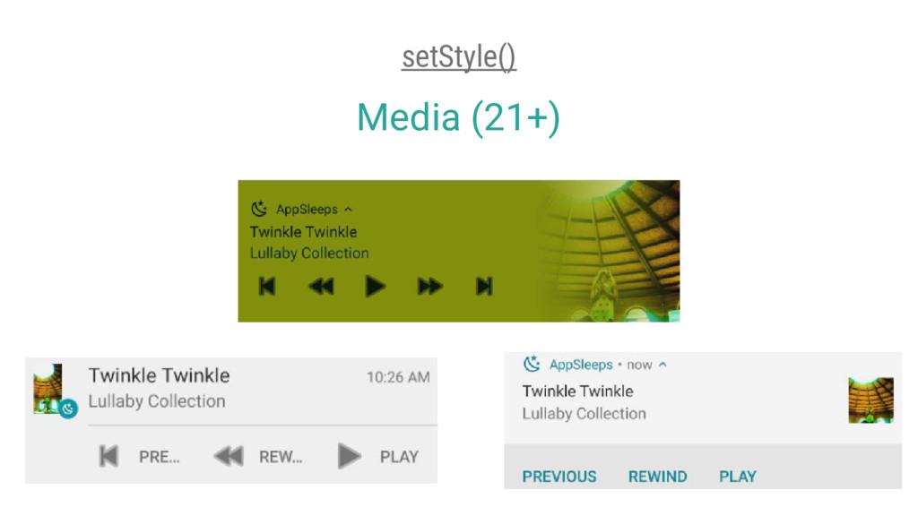 Media (21+) setStyle()