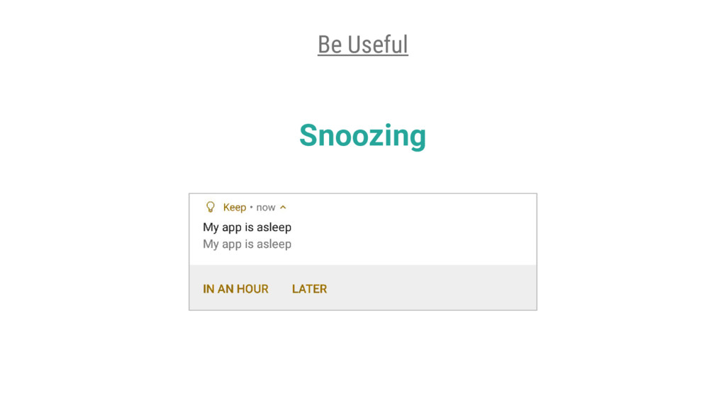 Snoozing Be Useful