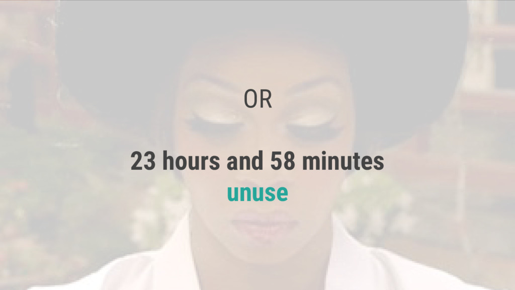 OR 23 hours and 58 minutes unuse