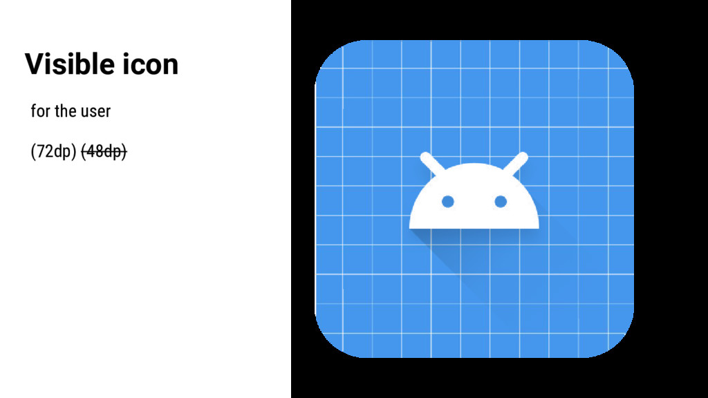 Visible icon for the user (72dp) (48dp)