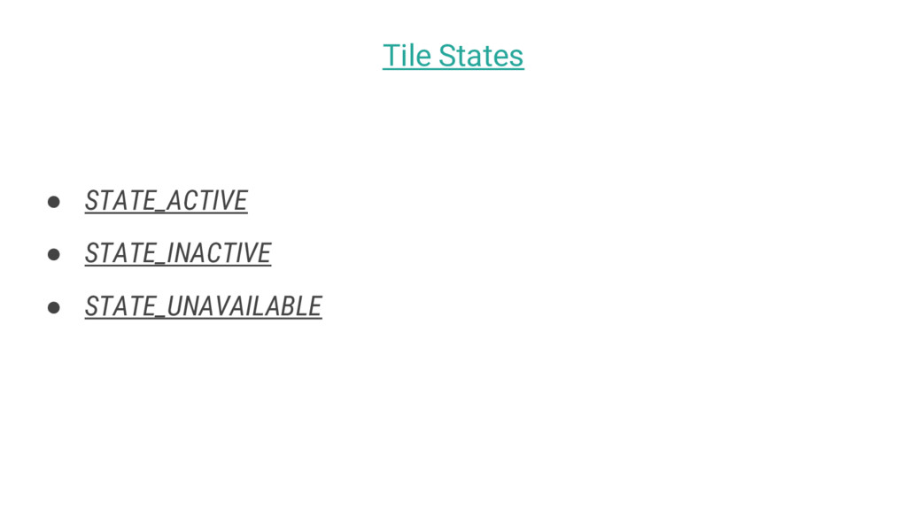 ● STATE_ACTIVE ● STATE_INACTIVE ● STATE_UNAVAIL...