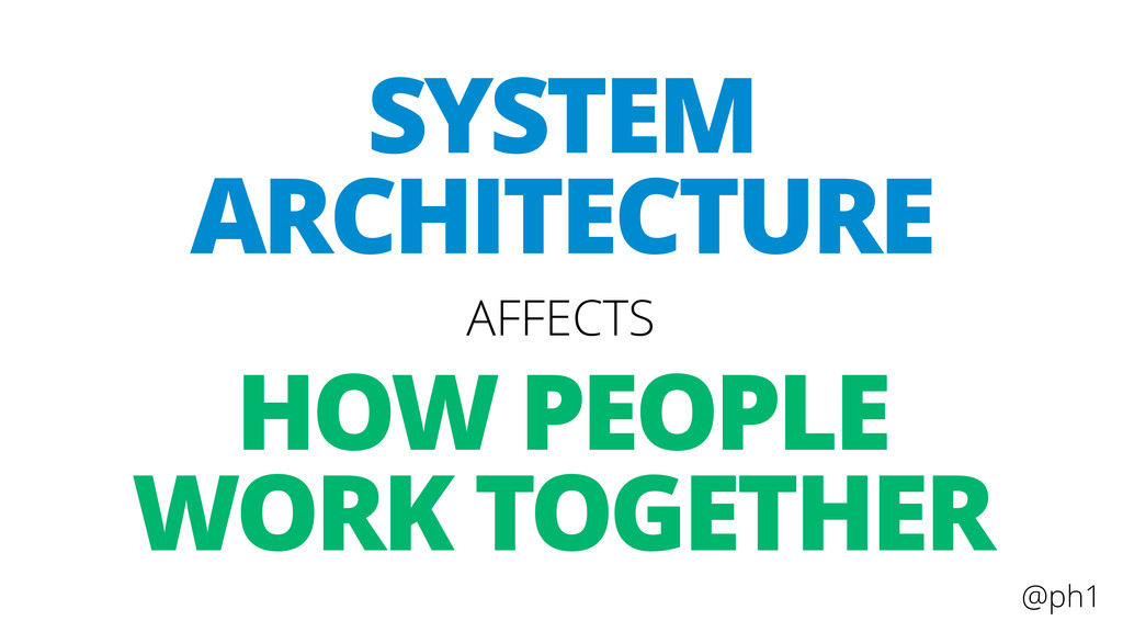 @ph1 HOW PEOPLE WORK TOGETHER AFFECTS SYSTEM AR...