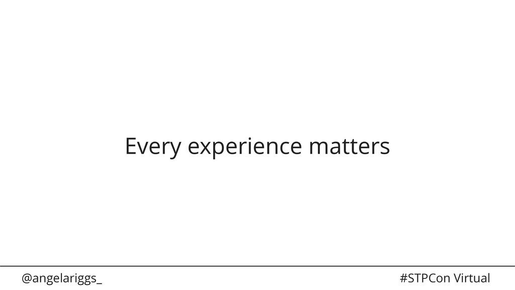 @angelariggs_ #STPCon Virtual Every experience ...