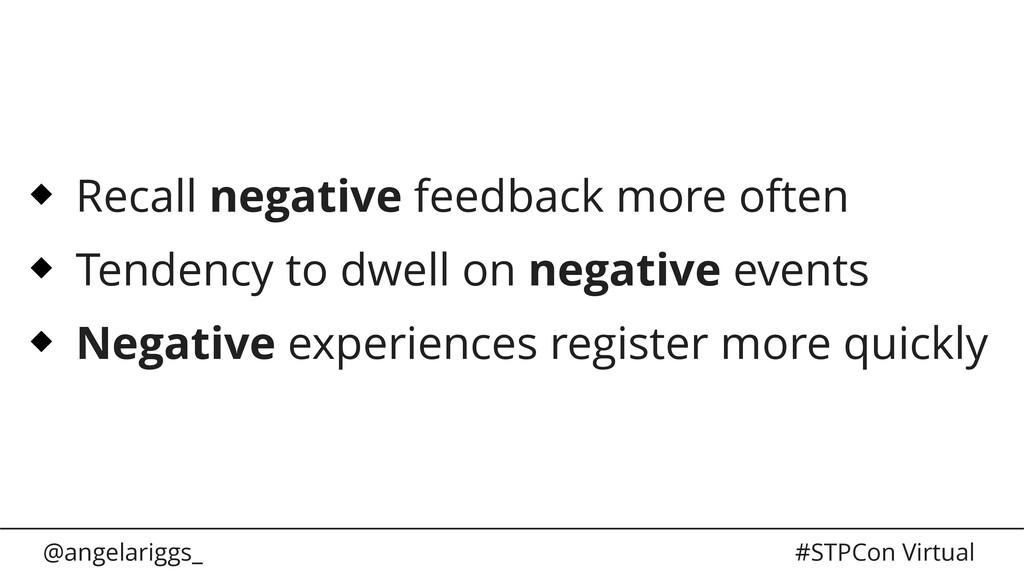 @angelariggs_ #STPCon Virtual Recall negative f...