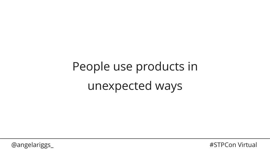 @angelariggs_ #STPCon Virtual People use produc...