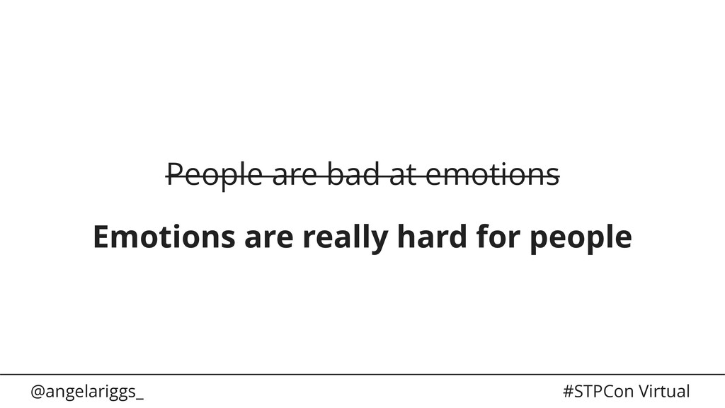 @angelariggs_ #STPCon Virtual People are bad at...