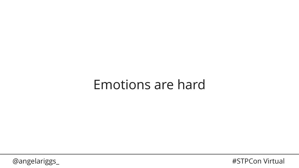 @angelariggs_ #STPCon Virtual Emotions are hard
