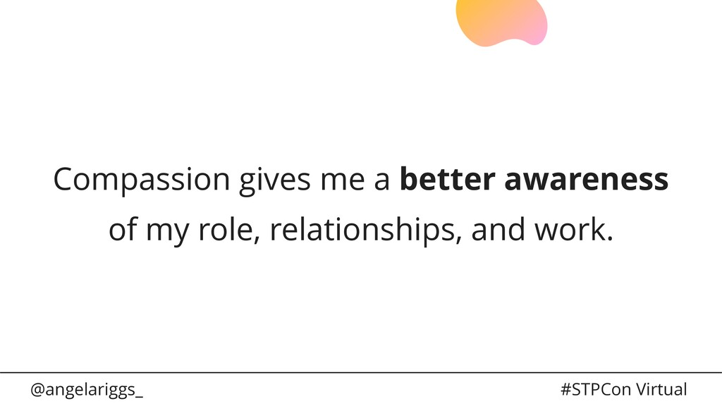@angelariggs_ #STPCon Virtual Compassion gives ...