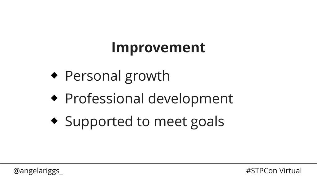 @angelariggs_ #STPCon Virtual Improvement Perso...