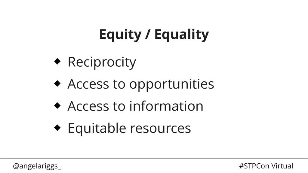 @angelariggs_ #STPCon Virtual Equity / Equality...