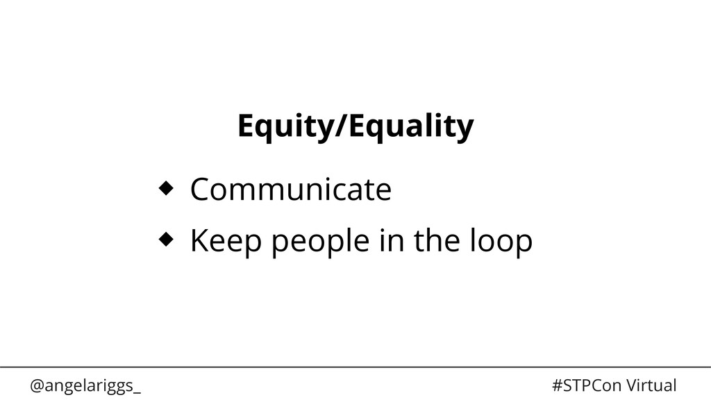 @angelariggs_ #STPCon Virtual Equity/Equality C...