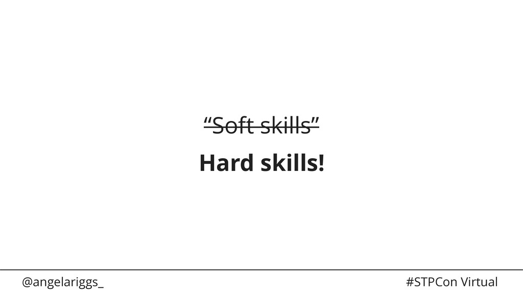"@angelariggs_ #STPCon Virtual ""Soft skills"" Har..."