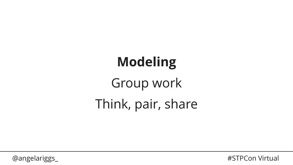 @angelariggs_ #STPCon Virtual Modeling Group wo...
