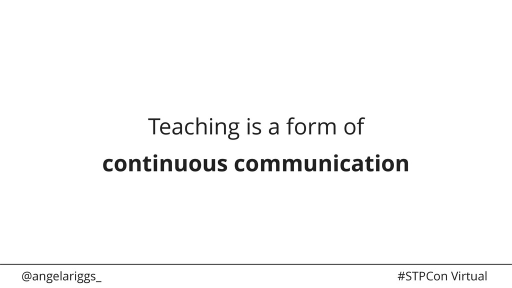 @angelariggs_ #STPCon Virtual Teaching is a for...
