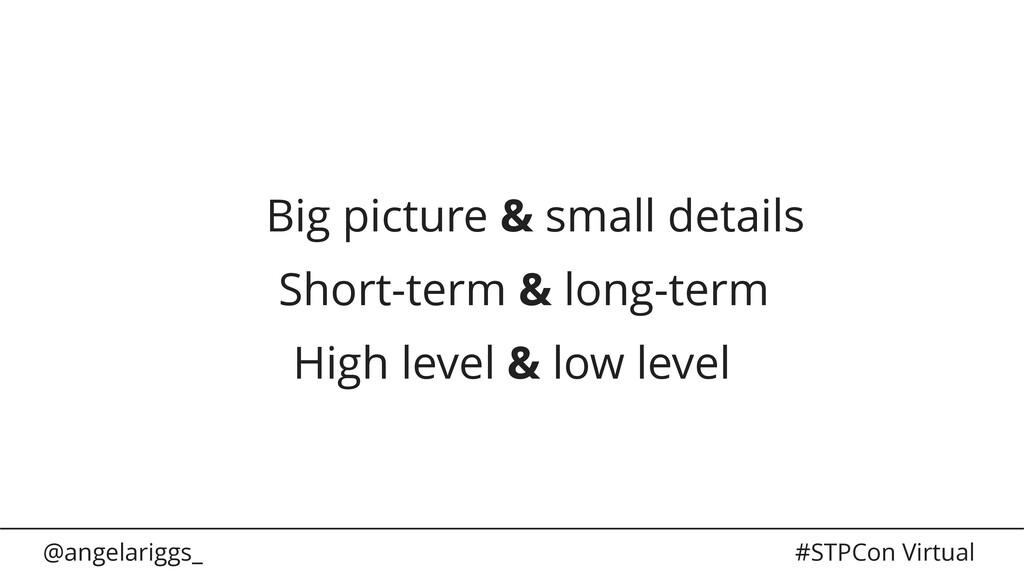 @angelariggs_ #STPCon Virtual Big picture & sma...