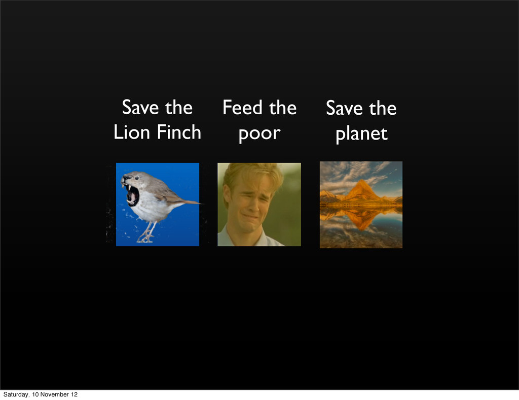 Save the Lion Finch Feed the poor Save the plan...