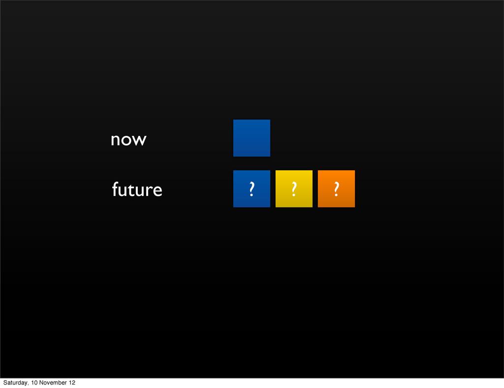 now future ? ? ? Saturday, 10 November 12