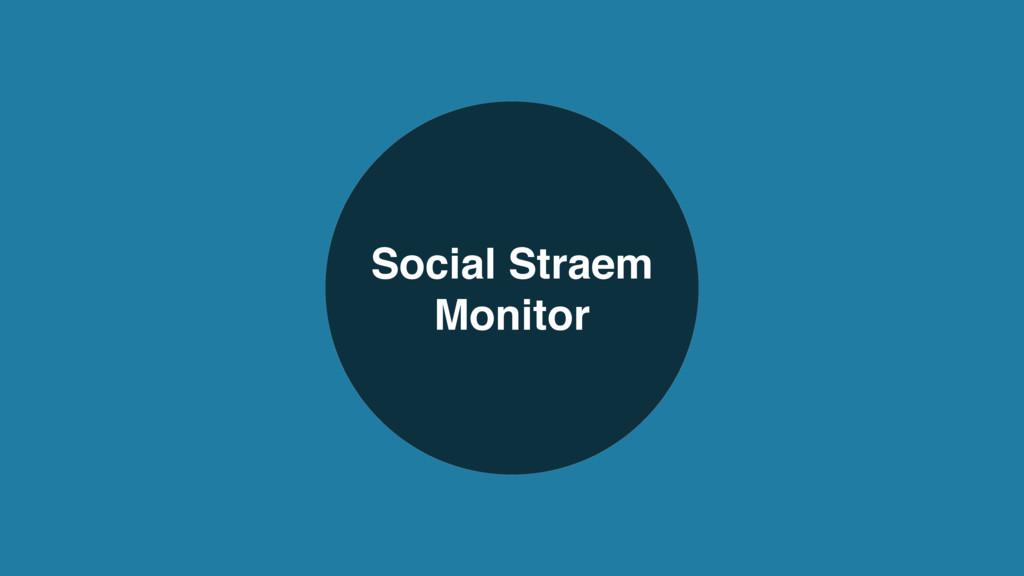 Social Straem Monitor