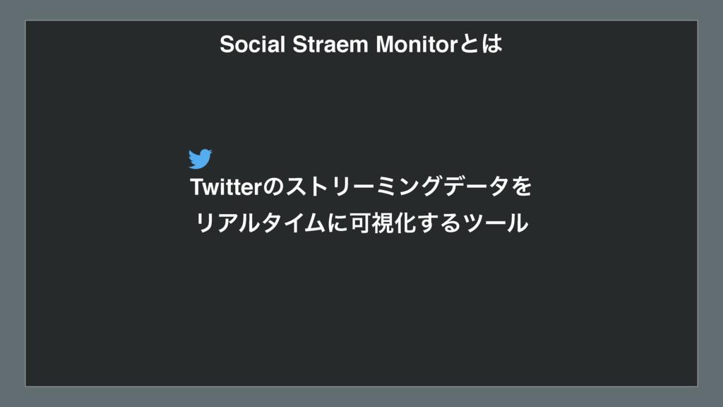 Social Straem Monitorͱ TwitterͷετϦʔϛϯάσʔλΛ ϦΞϧ...