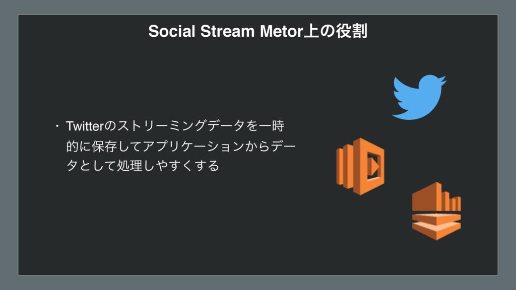 Social Stream Metor্ͷׂ • TwitterͷετϦʔϛϯάσʔλΛҰ...