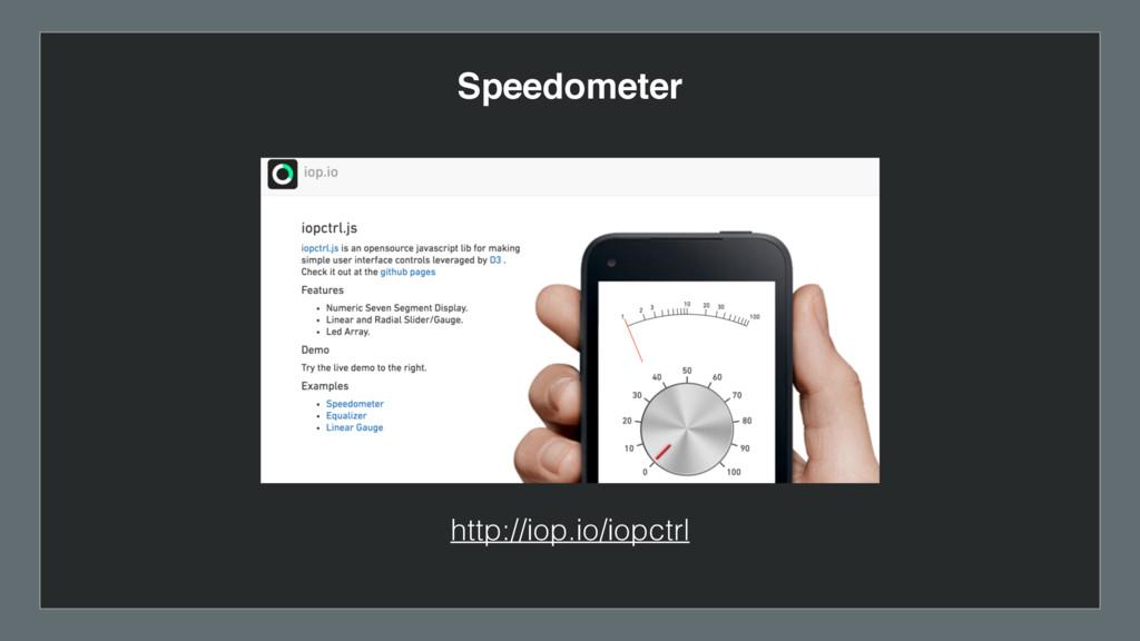 http://iop.io/iopctrl Speedometer