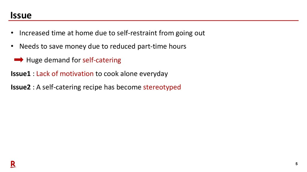 5 Issue • Increased time at home due to self-re...