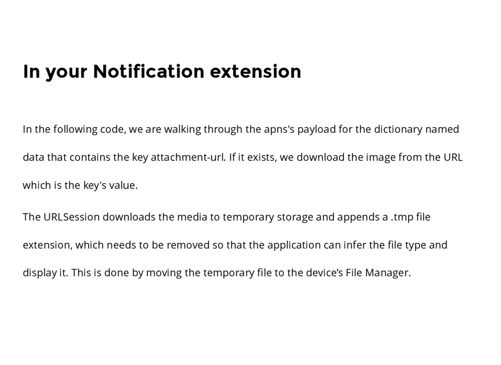 In your Notification extension In the following...