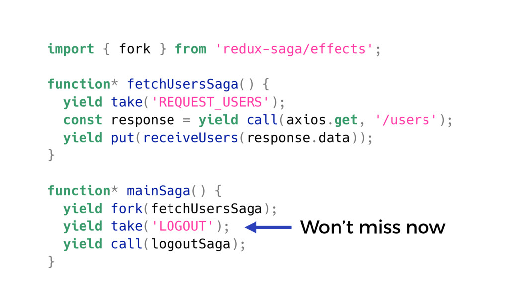 import { fork } from 'redux-saga/effects'; func...