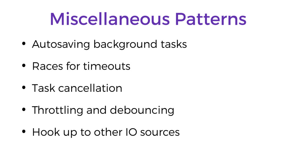Miscellaneous Patterns • Autosaving background ...