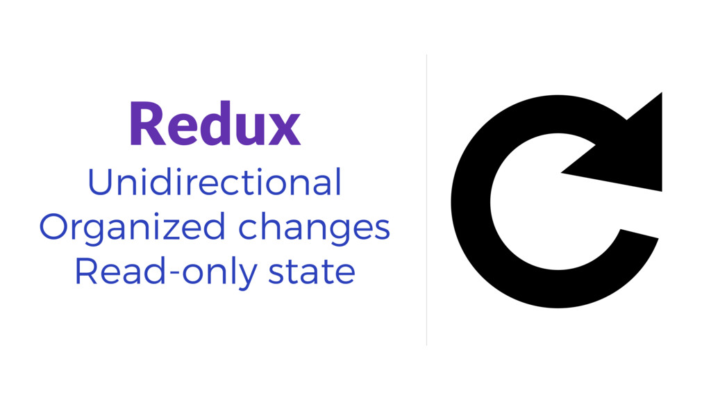 Redux Unidirectional Organized changes Read-onl...
