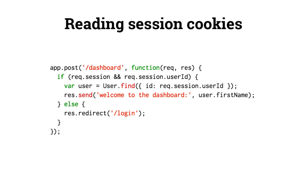 Reading session cookies