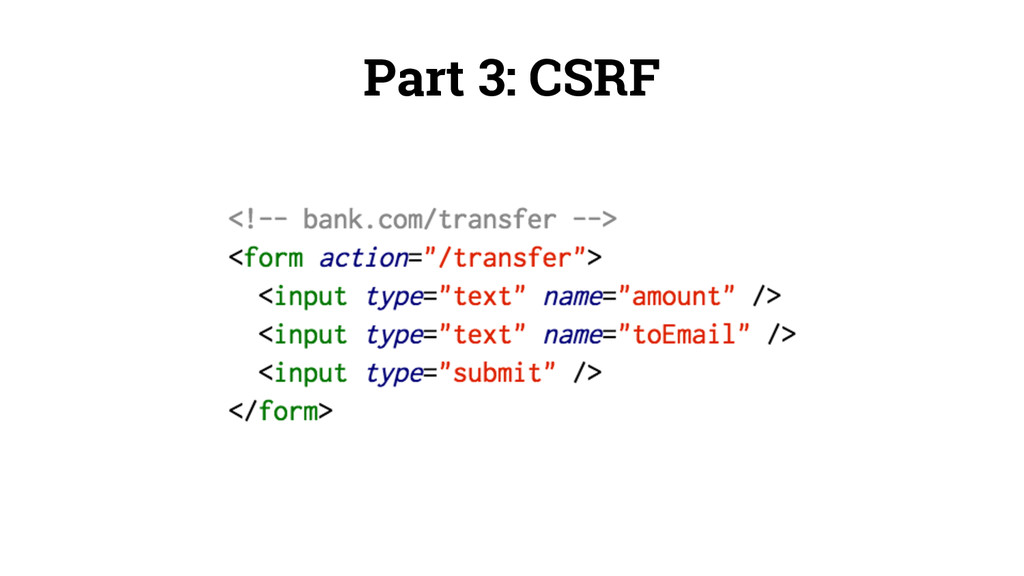 Part 3: CSRF