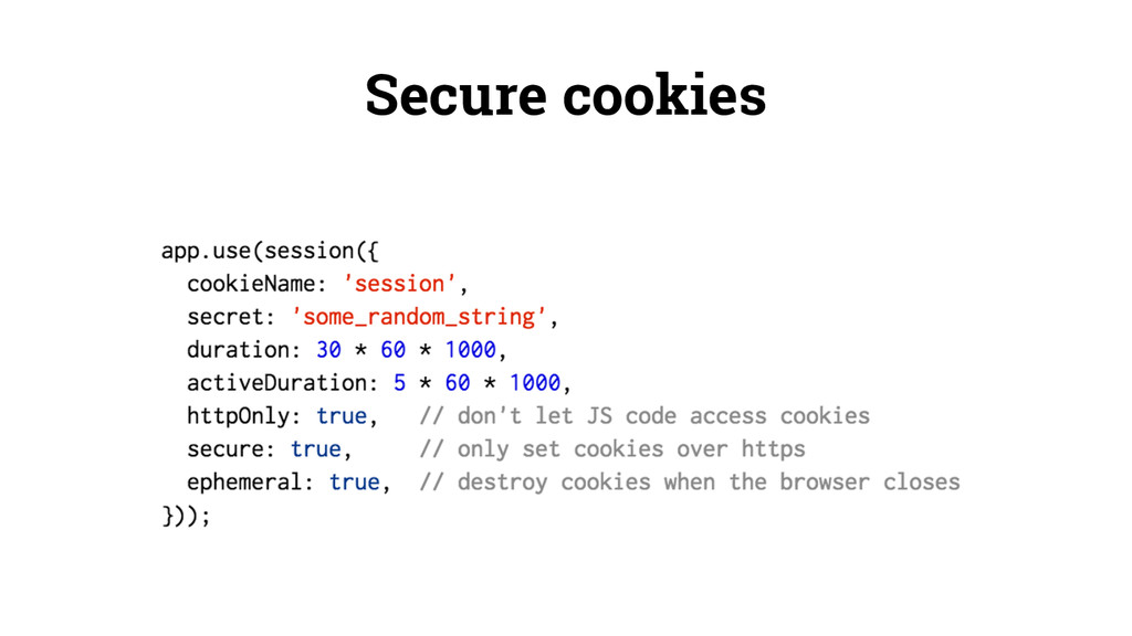 Secure cookies