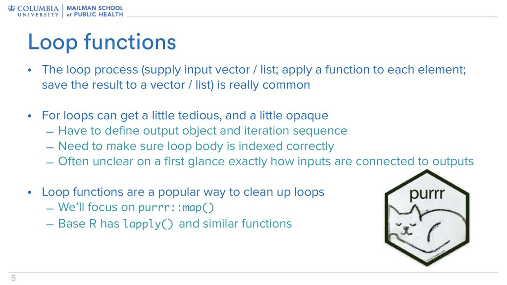 5 • The loop process (supply input vector / lis...