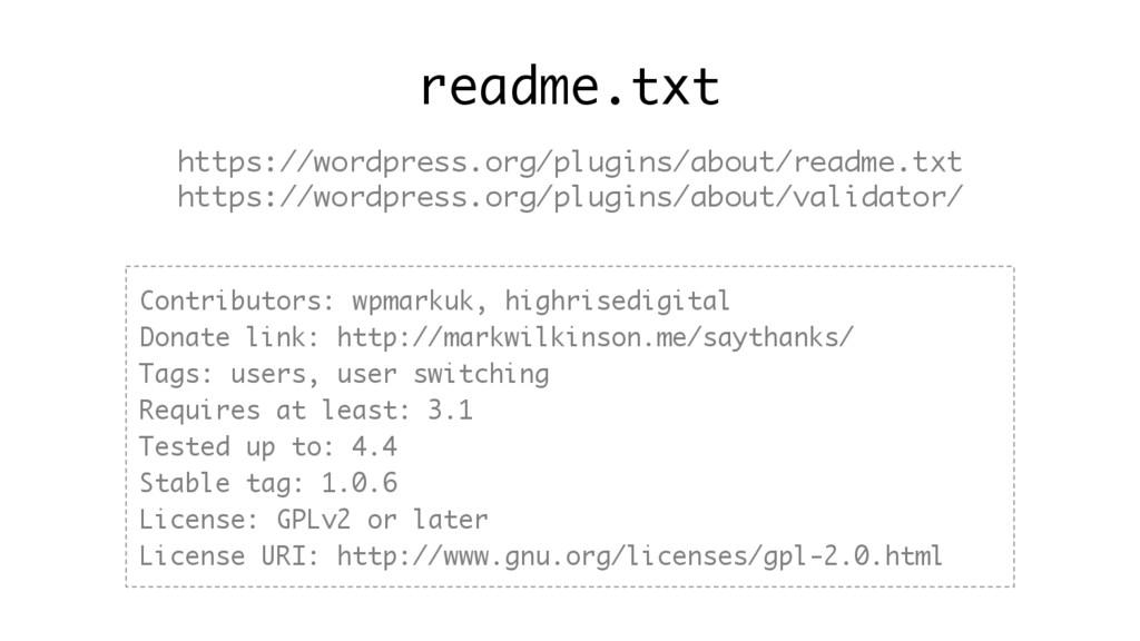 readme.txt https://wordpress.org/plugins/about/...