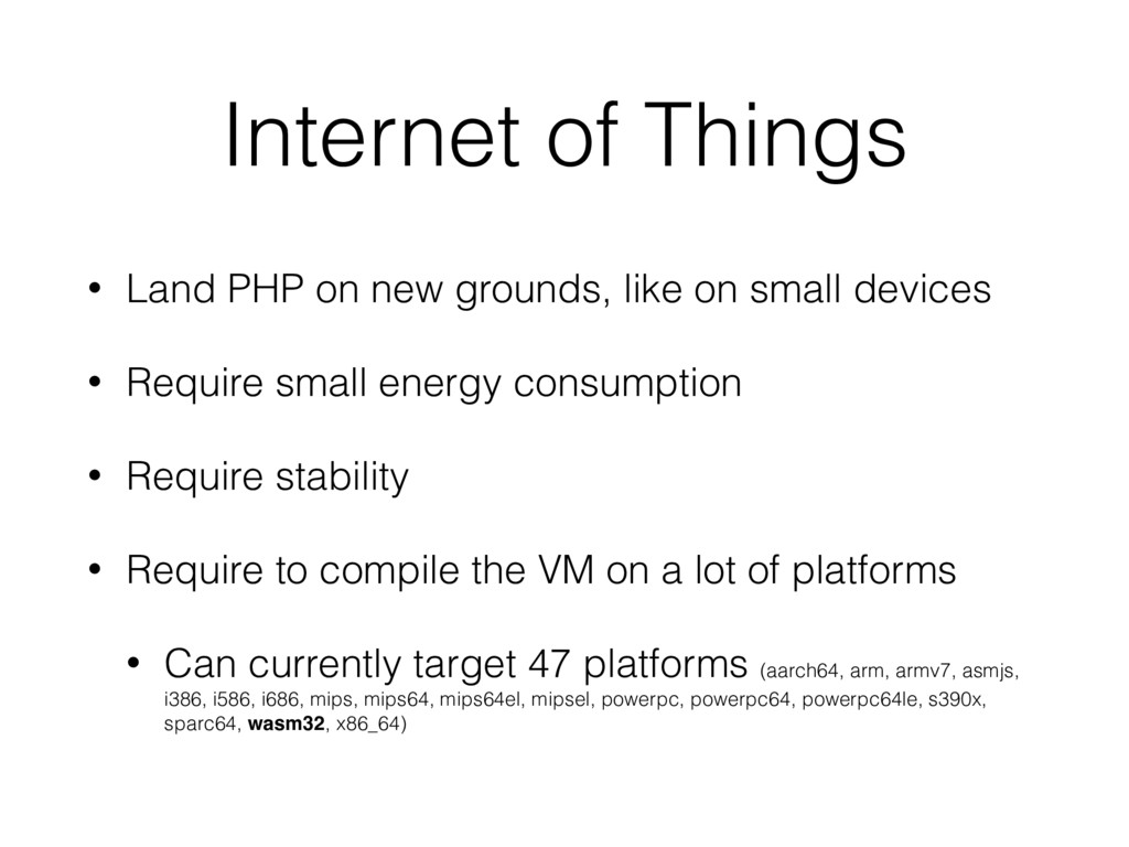 Internet of Things • Land PHP on new grounds, l...