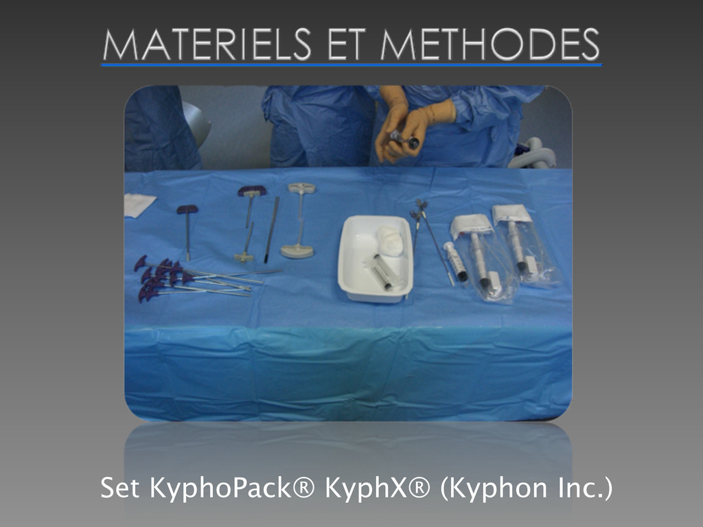 Set KyphoPack® KyphX® (Kyphon Inc.)