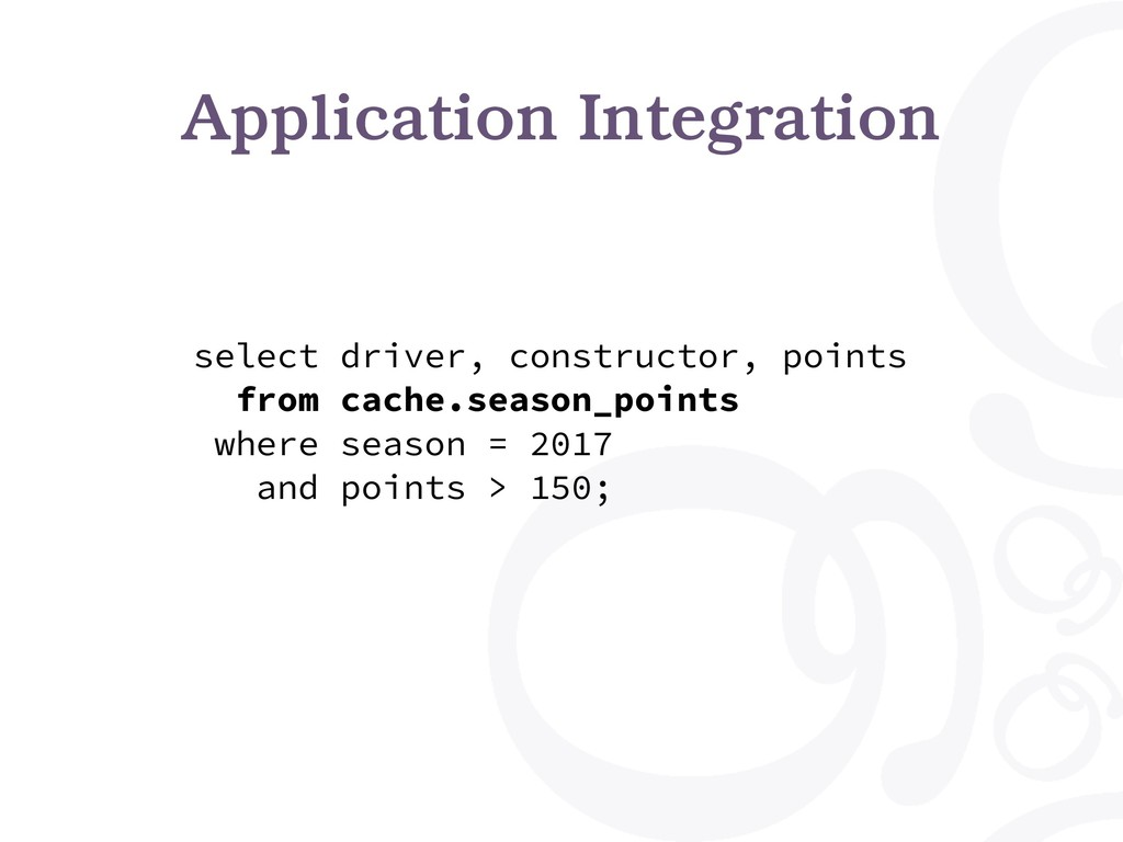 Application Integration select driver, construc...