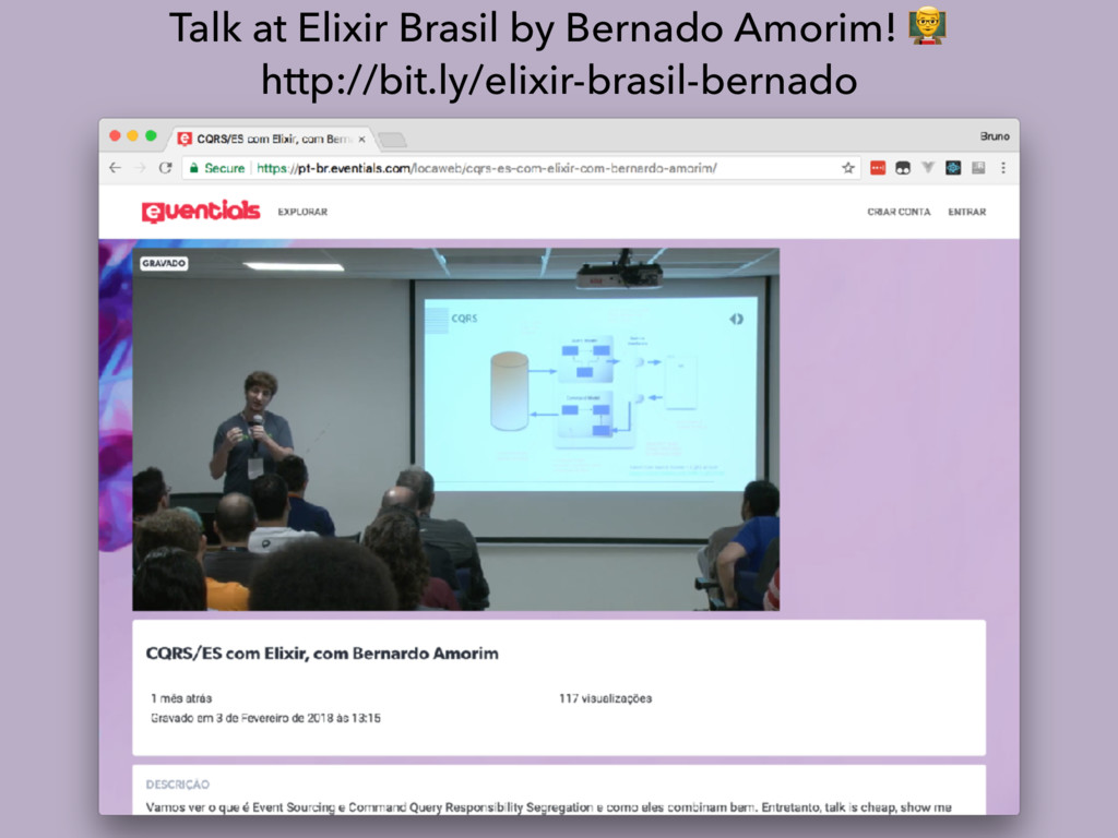 Talk at Elixir Brasil by Bernado Amorim! % http...