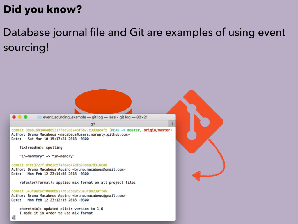 Did you know? Database journal file and Git are ...